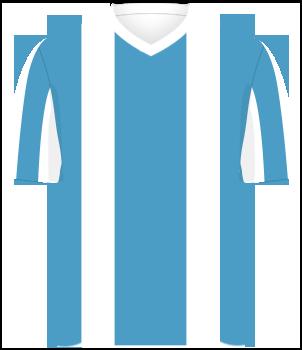 Koszulka Argentyny z biało-niebieskie pionowe pasy