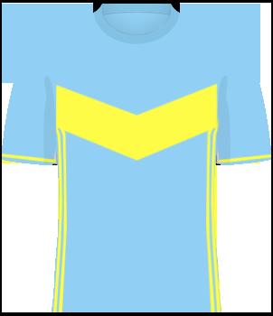 Jasno-niebieska koszulka reprezentacji Kazachstanu