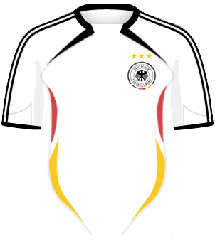 Biała koszulka reprezentacji Niemiec z MŚ 2006 (z herbem)