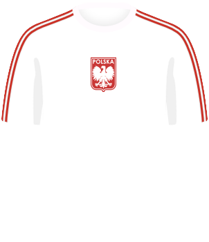 Biała koszulka reprezentacji Polski, z krótkim rękawem, MŚ 1974