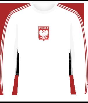 Biała koszulka reprezentacji Polski z 1974 roku