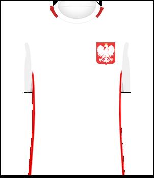 Koszulka Polski z 2016 roku (el. Euro 2016 i Euro 2016)
