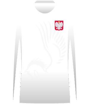 Polska husaria z długim rękawem (mecz u siebie z Belgią i na wyjeździe z Serbią)