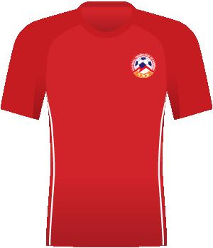 Czerwona koszulka reprezentacji Armenii z 2007 roku.