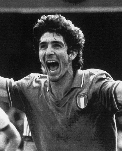 Polska - Włochy (08.07.1982) Paolo Rossi