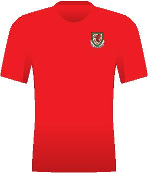 Czerwona koszulka reprezentacji Walii.