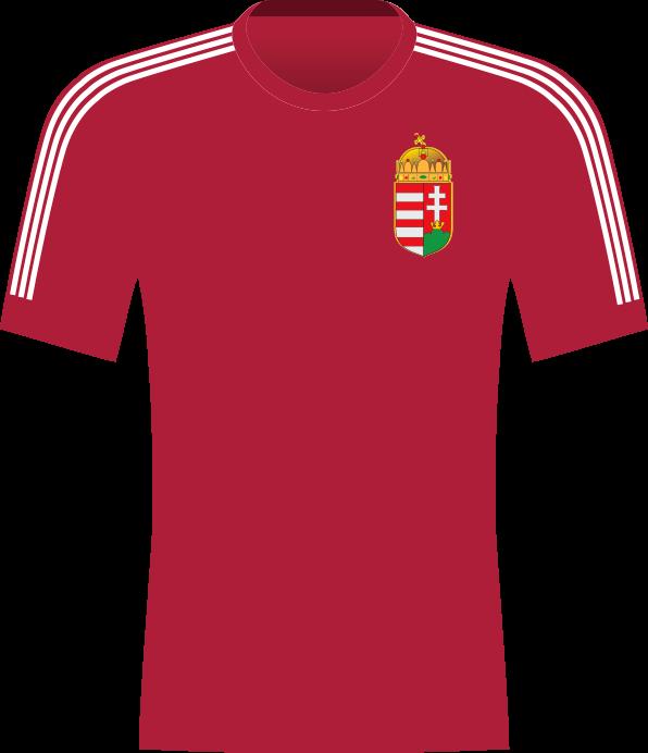 Bordowa koszulka reprezentacji Węgier.