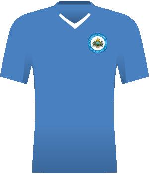 Błękitna koszulka z krótkim rękawem.