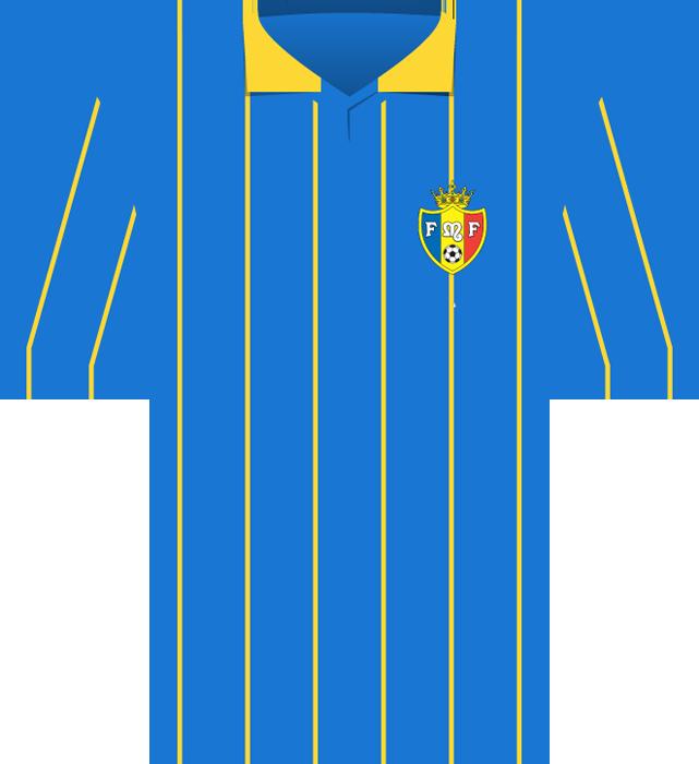 Niebieska koszulka Mołdawii