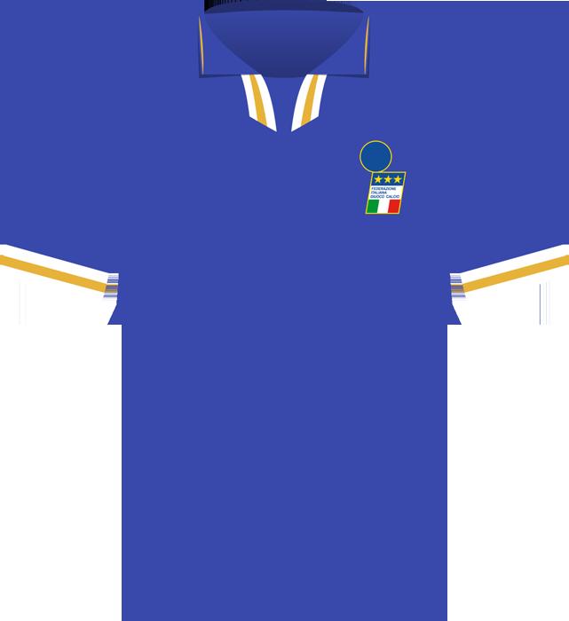 Niebieska koszulka Włoch