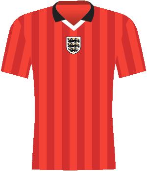 Koszulka Anglii w meczu z Polską u siebie (el. Euro 2000)