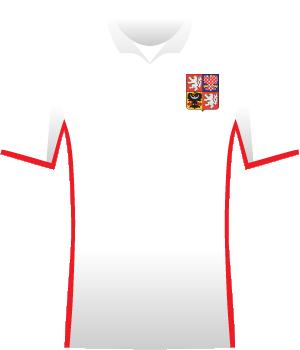 Biała koszulka reprezentacji Czech z eliminacji MŚ 2010.