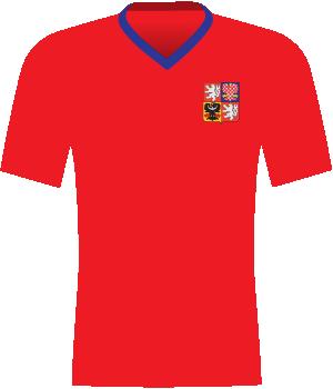 Czerwona koszulka reprezentacji Czech z eliminacji MŚ 2010.