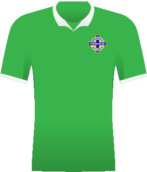 Zielona koszulka z białyk kołnierzykiem