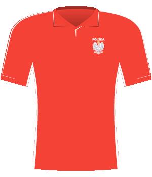 Koszulka Polski w meczu z Anglią u siebie i Szwecją na wyjeździe (el. Euro 2000)