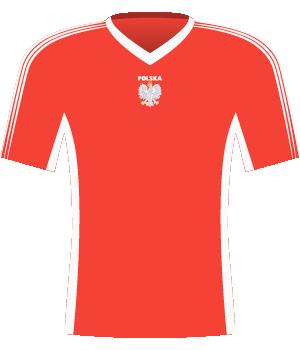 Koszulka Polski w meczu z Bułgarią u siebie i Szwecją u siebie (el. Euro 2000)