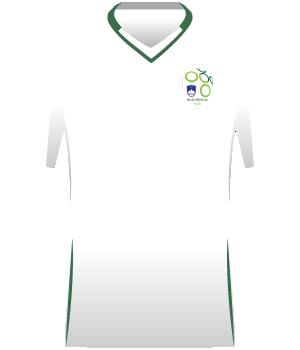 Biała koszulka reprezentacji Słowenii z eliminacji MŚ 2010.