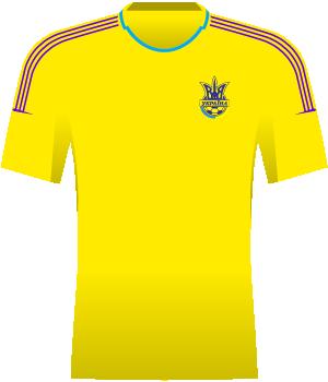 Żółta koszulka Ukrainy
