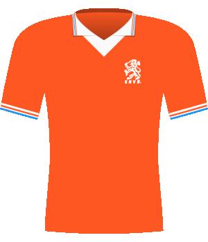 Pomarańczowa koszulka Holandii z eliminacji mistrzostw świata 1994.