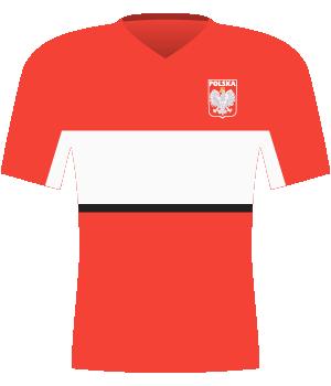 Koszulka Polski z 1997 roku.