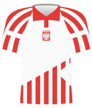 Koszulka Polski z eliminacji mistrzostw Europy 1996.