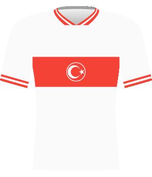 Koszulka Turcji z eliminacji mistrzostw świata 1994.