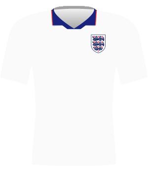 Biała koszulka reprezentacji Anglii z eliminacji MŚ 1994.