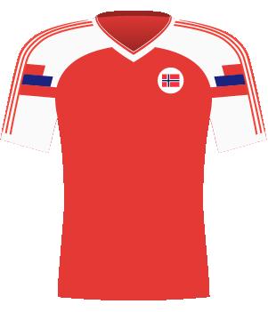 Koszulka reprezentacji Norwegii z 1993 roku.