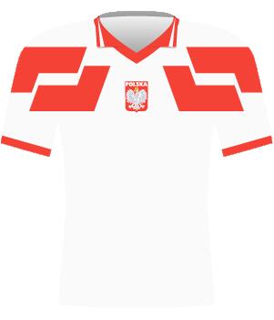 Koszulka reprezentacji Polski z eliminacji MŚ 1994.