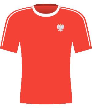 Czerwona koszulka Polski 2011