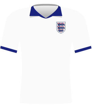 Koszulka Anglii w meczu z Polską 1991