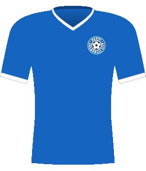 Niebieska koszulka Estonii z 2012 roku.
