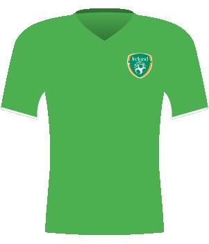 Zielona koszulka Irlandii z 2013 roku.