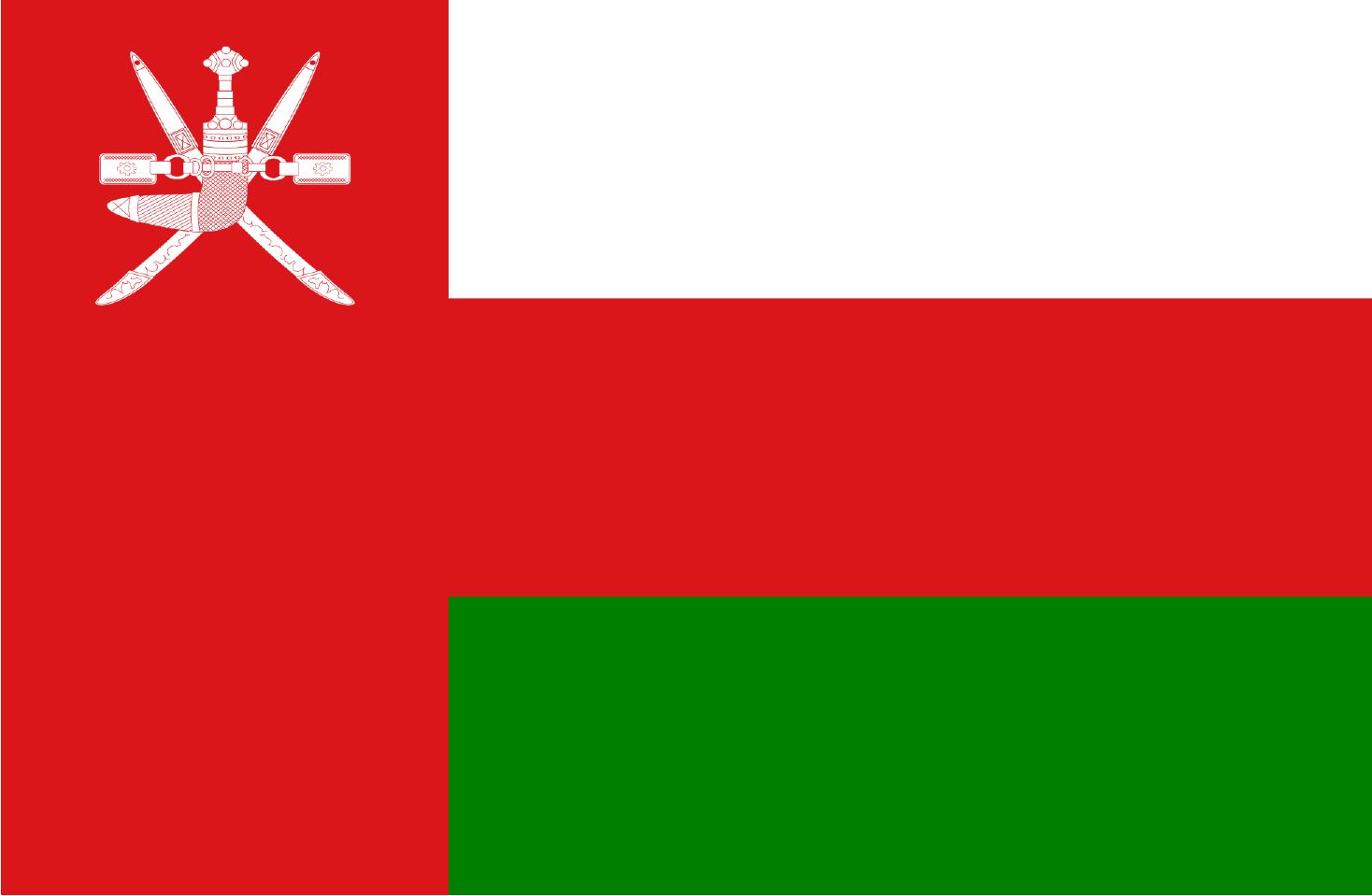 Flaga Omanu.