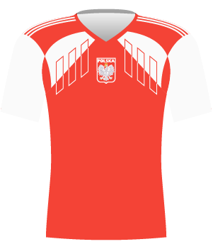 Koszulka reprezentacji Polski z eliminacji ME 1992.