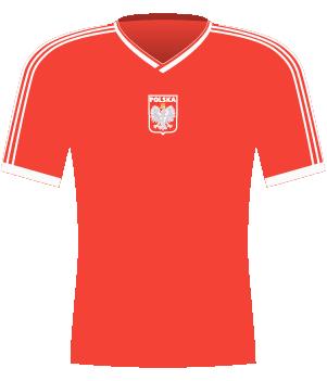 Koszulka Polski w meczu z Anglią u siebie 1991