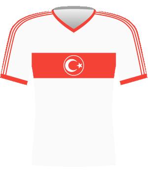 Koszulka Turcji z eliminacji ME 1992.