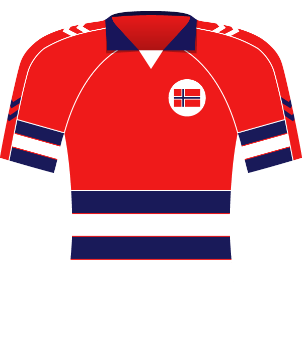 Koszulka Norwegii z 1989 roku.