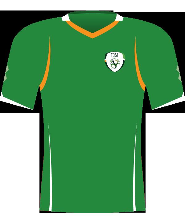 Zielona koszulka Irlandii z 2008 roku.