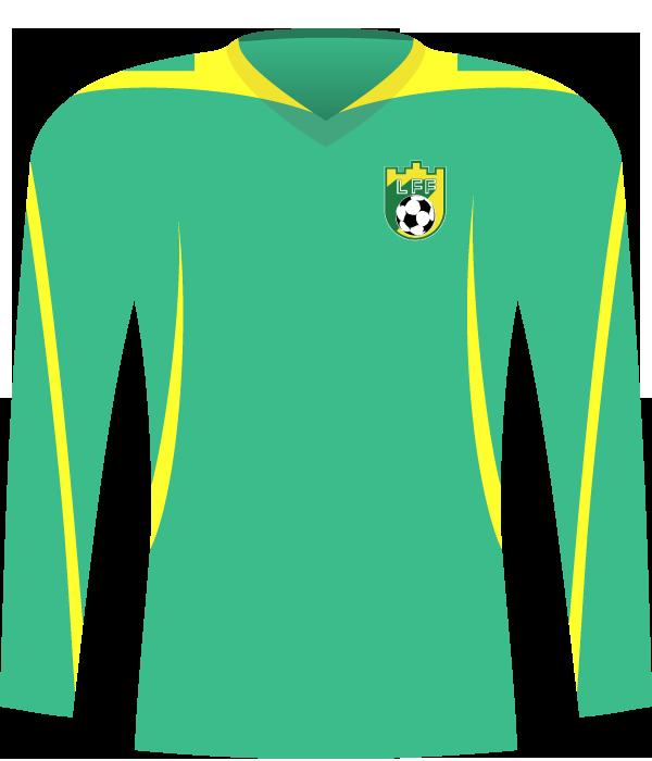 Zielona koszulka reprezentacji Litwy z 2009 roku.