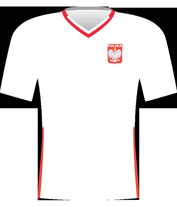 Koszulka reprezentacji Polski z 2009 i 2010.
