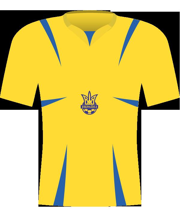 Żółta koszulka Ukrainy z 2008 roku.