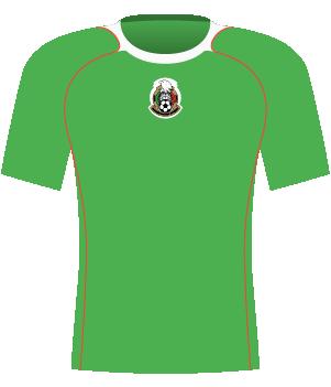Jasnozielona koszulka Meksyku z 2005 roku.