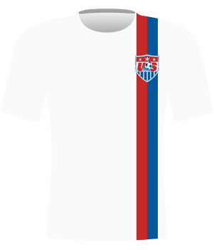 Koszulka Stanów Zjednoczonych z mistrzostw świata do lat 20 z 2007 roku.