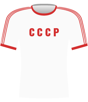 Biała koszulka reprezentacji ZSRR z eliminacji Euro 1984.