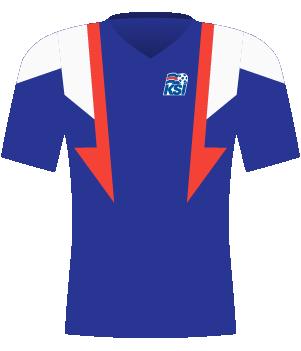 Koszulka Islandii z 2001 roku.