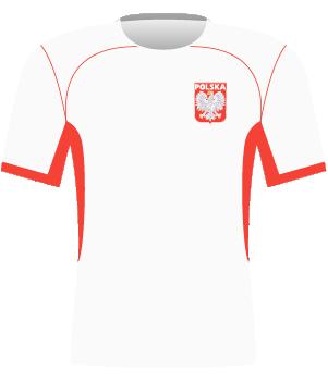 Koszulka reprezentacji Polski z 2003 i 2004 roku.