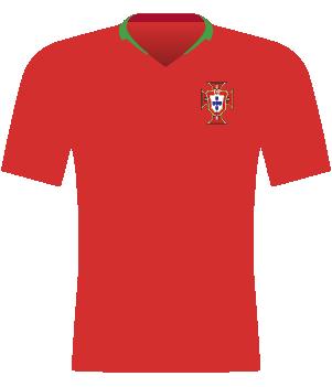 Czerwona koszulka Portugalii z 2018 roku.