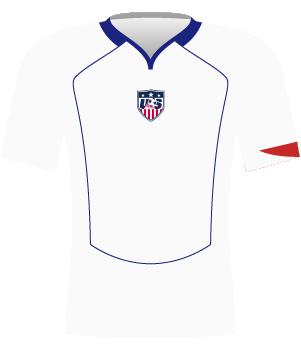 Biała koszulka USA z 2004 roku.
