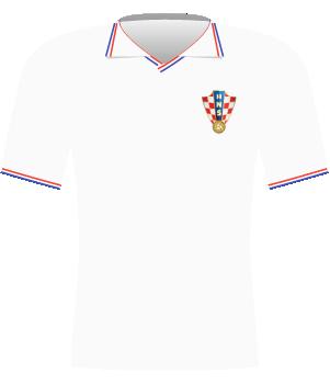 Koszulka Chorwacji z 1996 roku.
